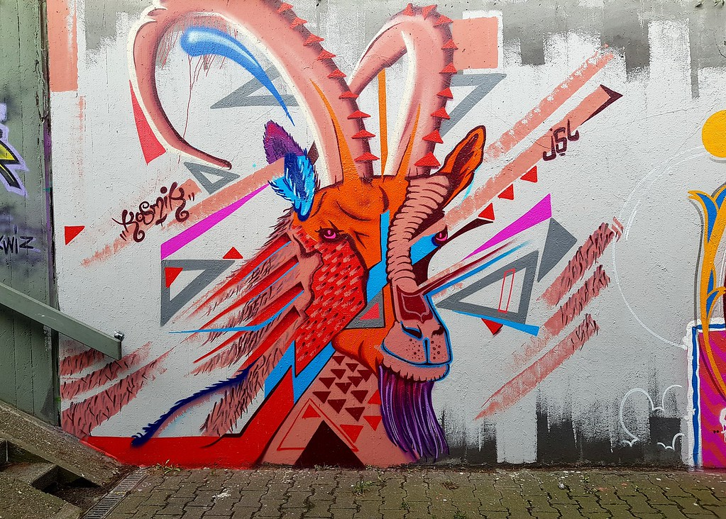 Street Art Chat Interview with Kosmik One - Goat Mural