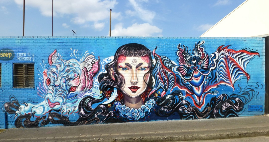 Mythological Heroin in Fitzroy - Where to find some of the best street art in Melbourne - StreetArtChat.com
