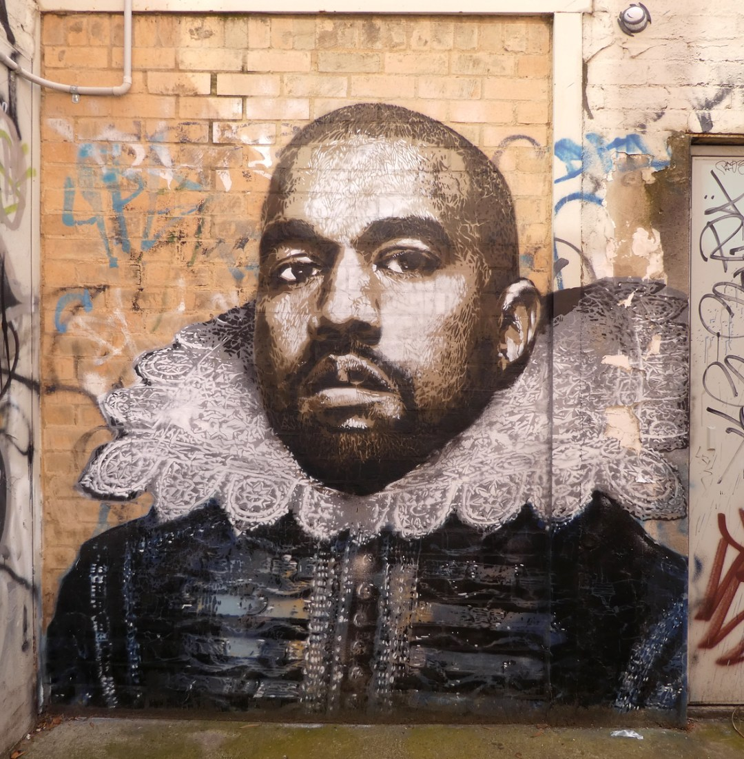 Shakespeare Kanye in Ringwood - Where to find some of the best street art in Melbourne - StreetArtChat.com