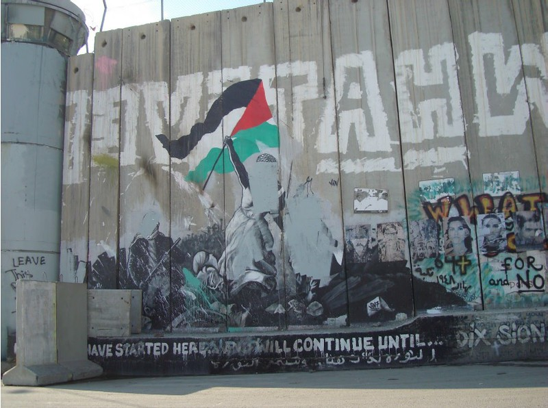political mural in Palestine