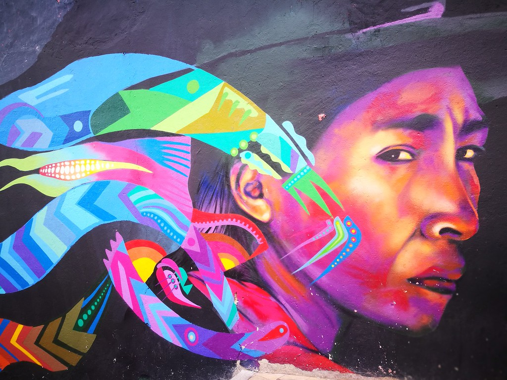 Best street art in Bogota, Colombia by the artist Gauche