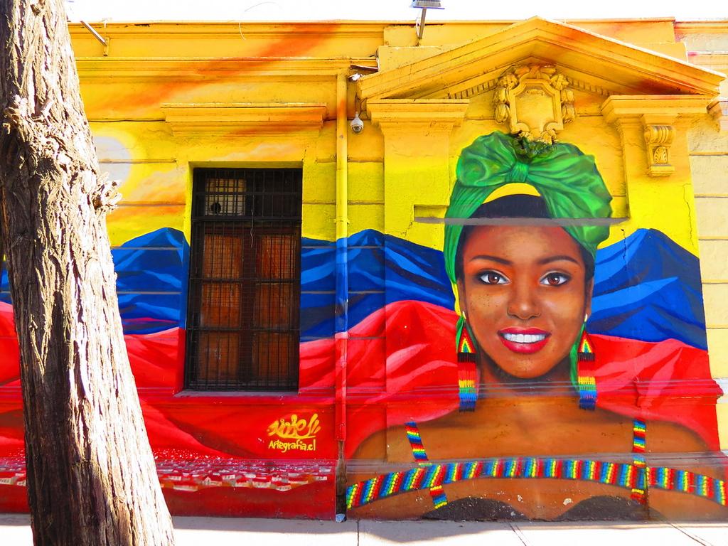 Best street art in Santiago provided by Mapping Megan