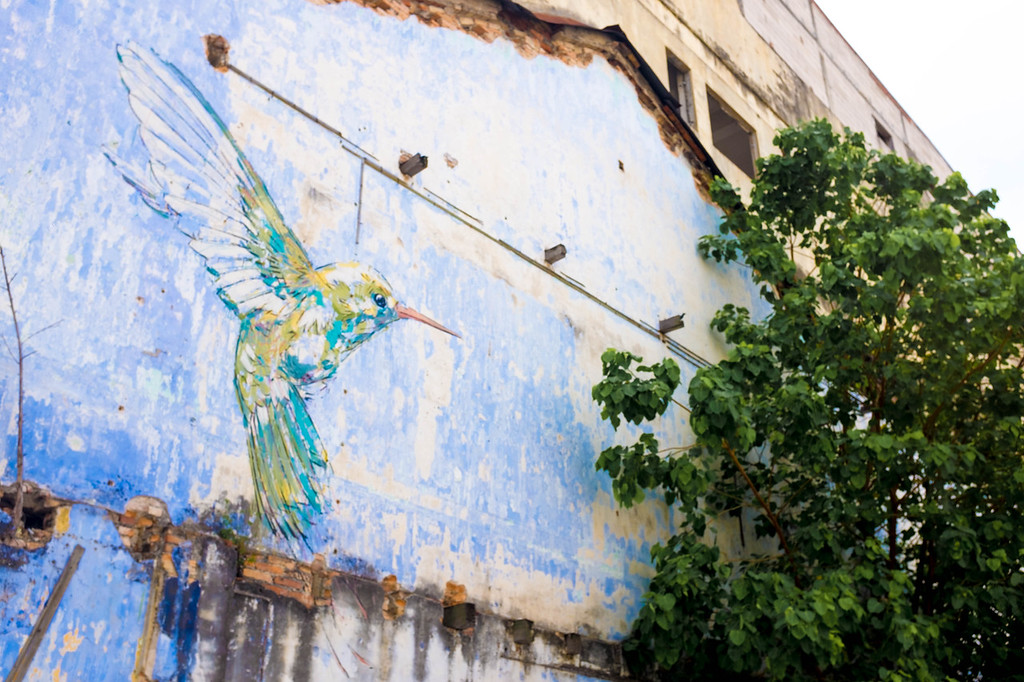 Ernest Zacharevic - Hummingbird street art