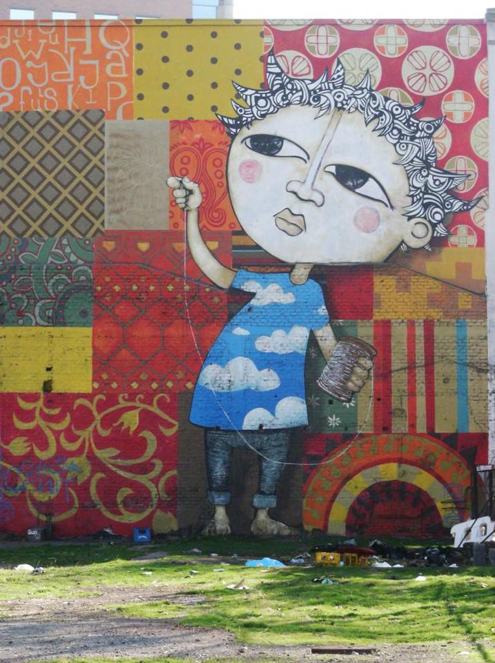 street art mural from Colectivo Cenit y Ekeko