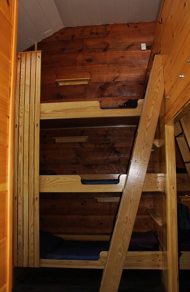 Comfy bunks at Zealand Hut