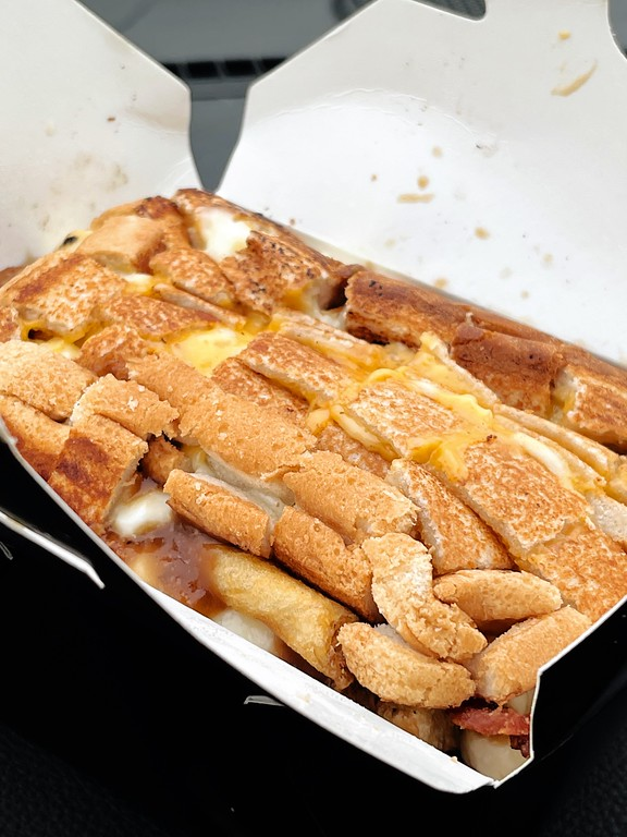 Bacon grilled cheese poutine at The Great Canadian Poutinerie