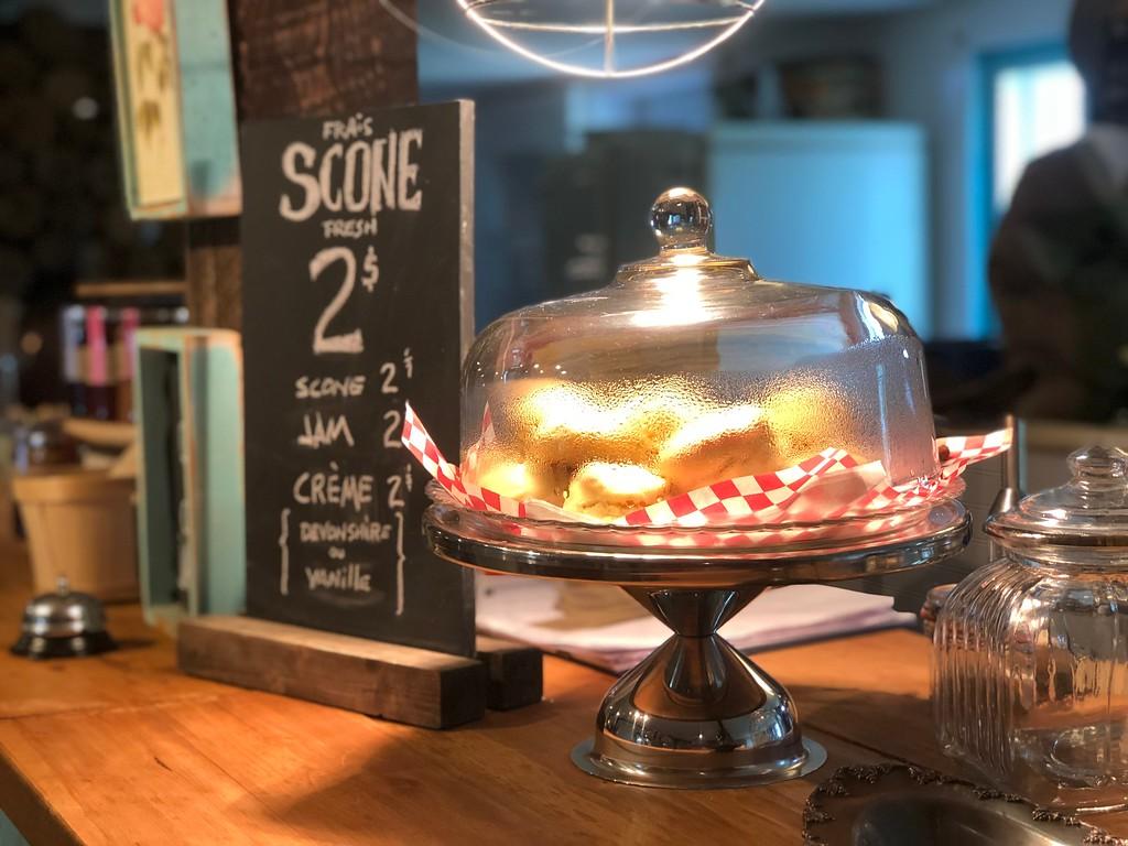 Fresh scones at La Confiturerie Tigidou on Ile d'Orleans