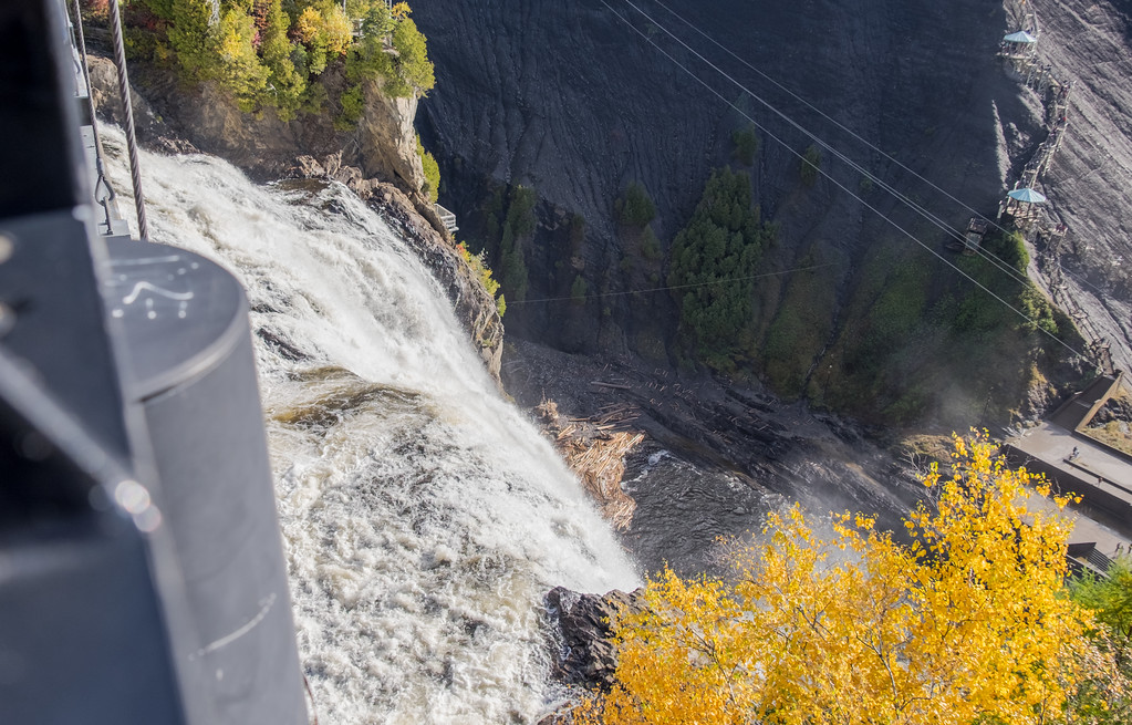 Visiting Montmorency Falls, Quebec City