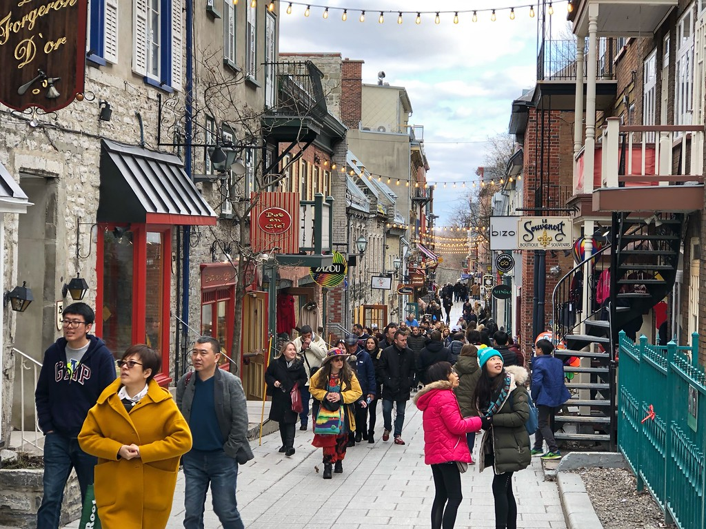 Shopping on rue Petit-Champlain is on almost every list of things to do in Quebec City.