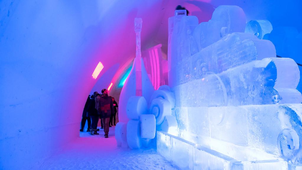 Ice slide at Hotel de Glace