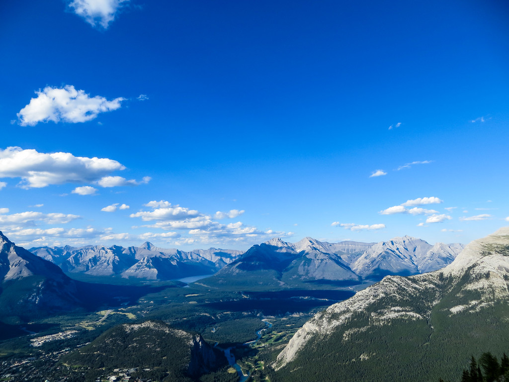 Go to Banff in summer for pictures like this one!