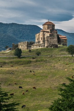 Jvari Monastery is a 6th century monastery situated on a cliff above Mtskheta.