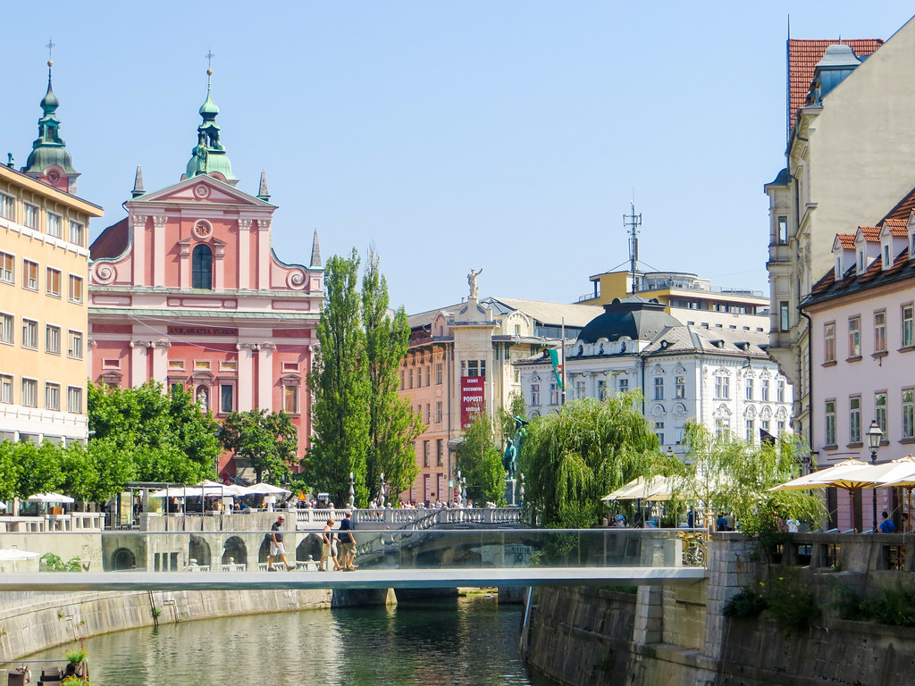 Delightful views of Ljubljana, a backpacking stop in Slovenia