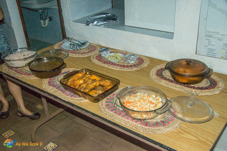 Lunch served at Punta Patino Lodge, Darien, Panama