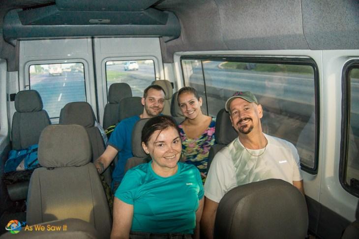 Van ride to Darien Panama