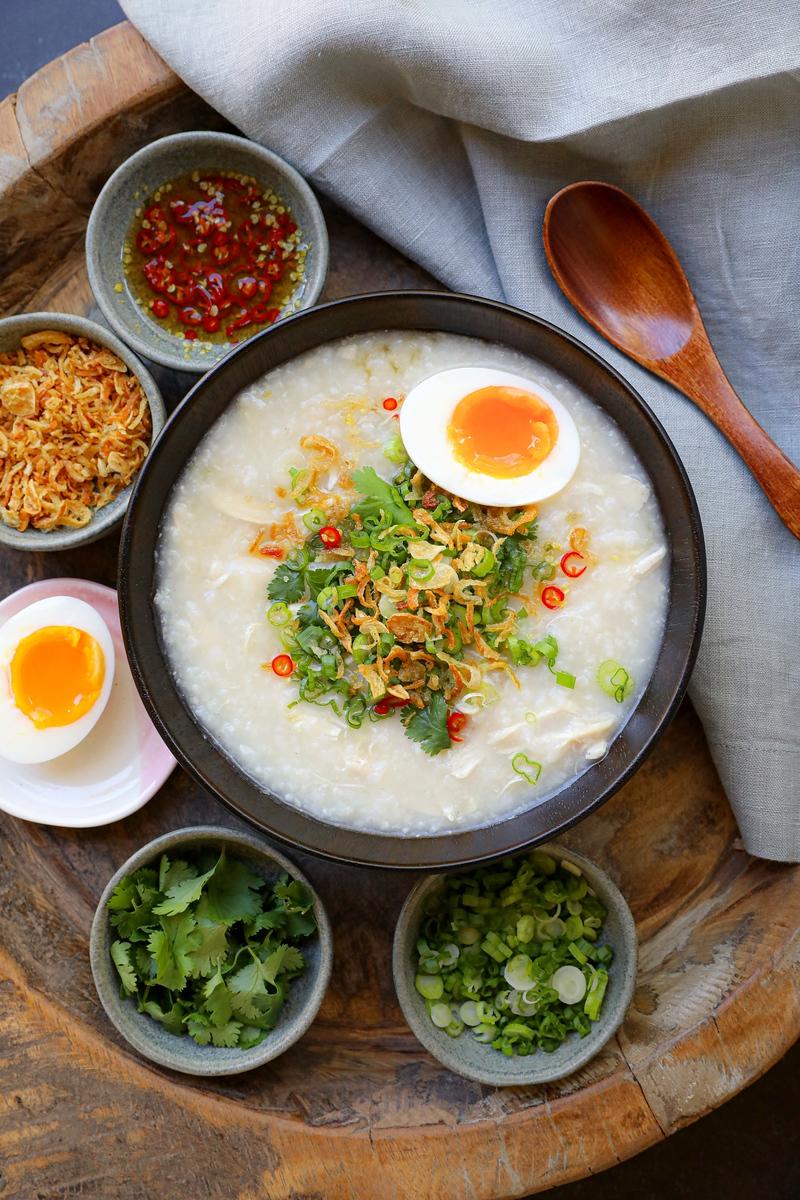 Chicken Porridge Recipe & Video Congee