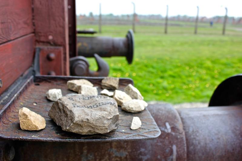 cattle car at Birkenau extermination camp