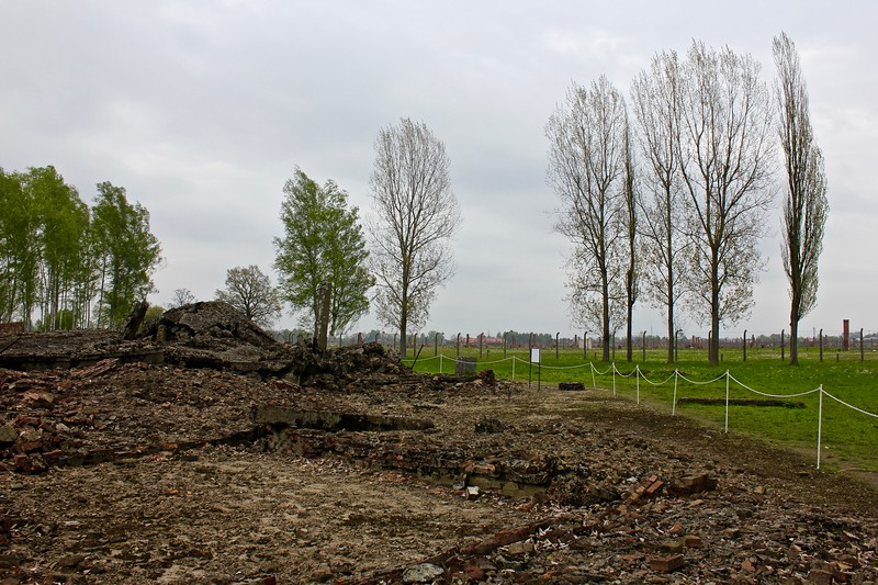 remains of gas chambers at Birkenau