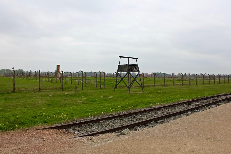 Birkenau extermination camp where the women's barracks once stood