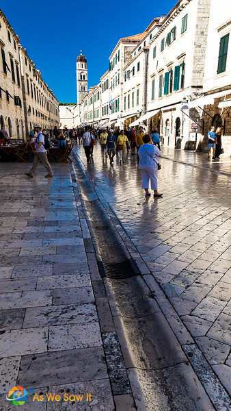 Tourists spending a day in Dubrovnik
