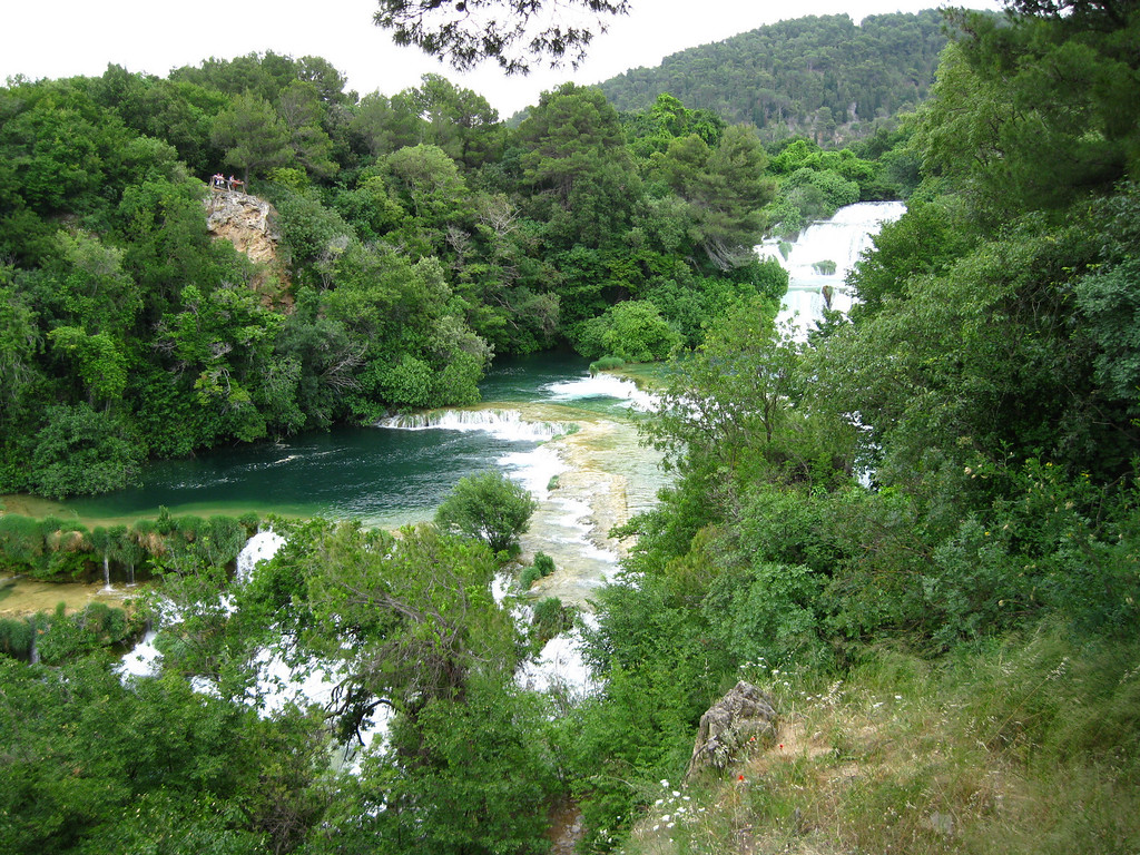 One of the many waterfalls along Krka River