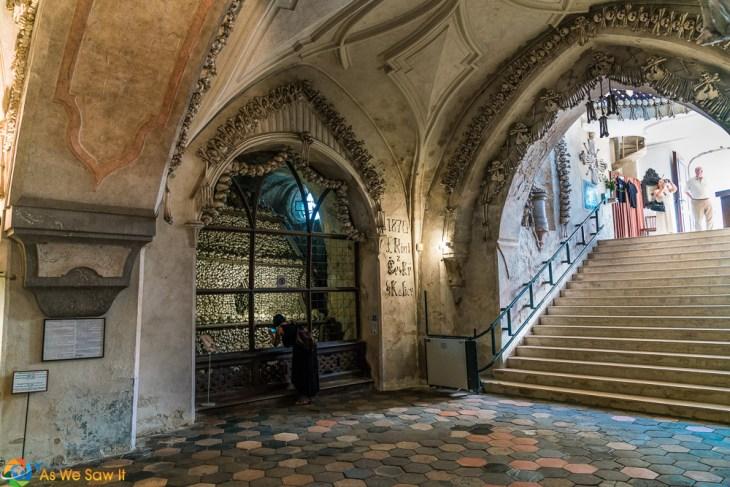 Sedlec Ossuary stairs