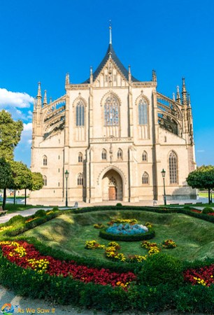 front view of St. Barbara Cathedral Kutna Hora