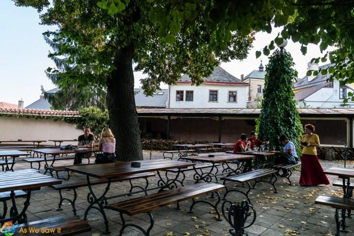 Patio at Restaurant Dacicky, Kutna Hora, Czech Republic