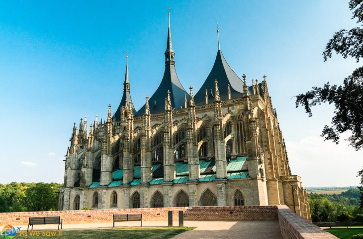 Late Gothic tented roof of St. Barbara's Cathedral in Kutna Hora