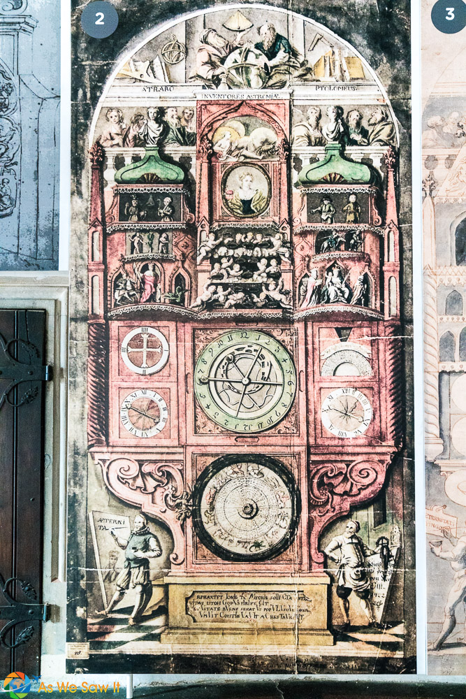 Original Astronomical Clock face, Olomouc
