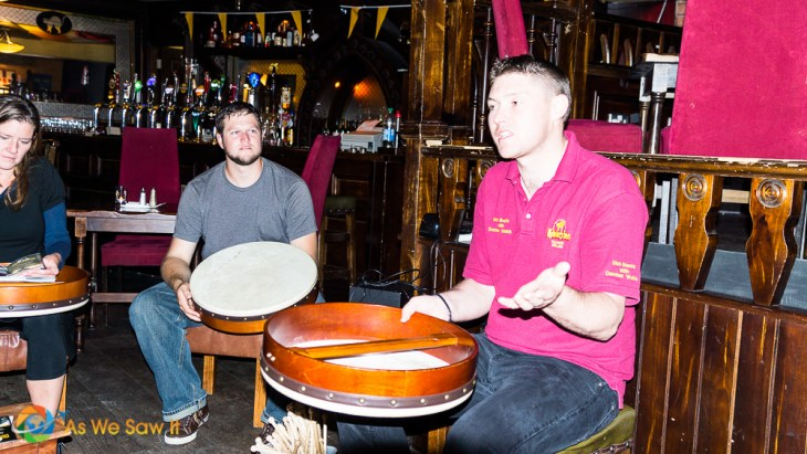 Things to do in Kilkenny: Learn to play the traditional Irish drum from a master bodhran player.