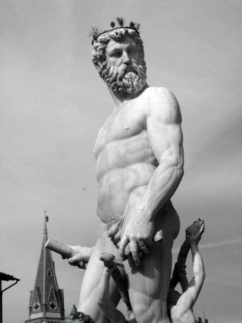 Poseidon Statue in the piazza near the Uffizi