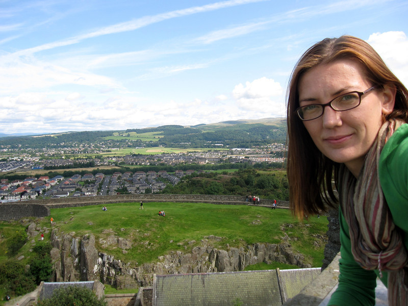 Selfie with views from the top of the William Wallace Monument
