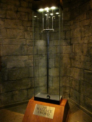 William Wallace's sword! It was legitimately huge.