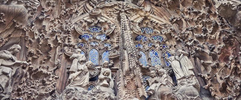 Nativityfaçade of La Sagrada Familia.