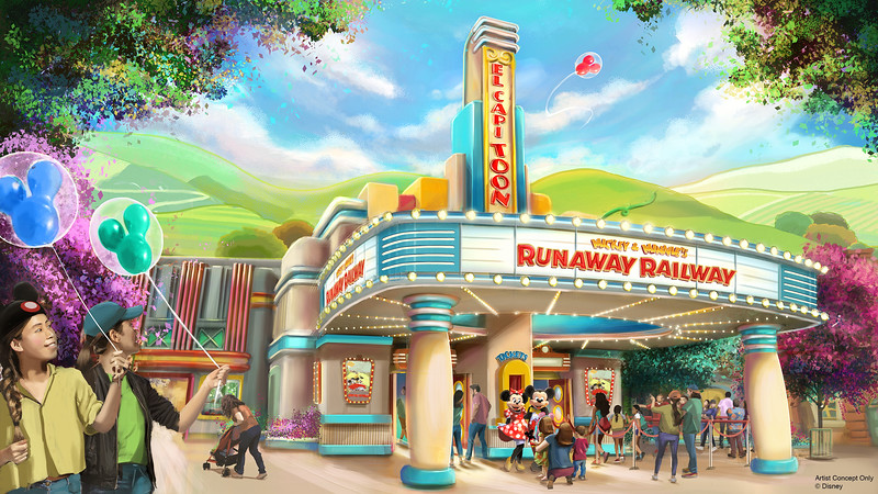 Mickey & Minnie's Runaway Railway at Disneyland