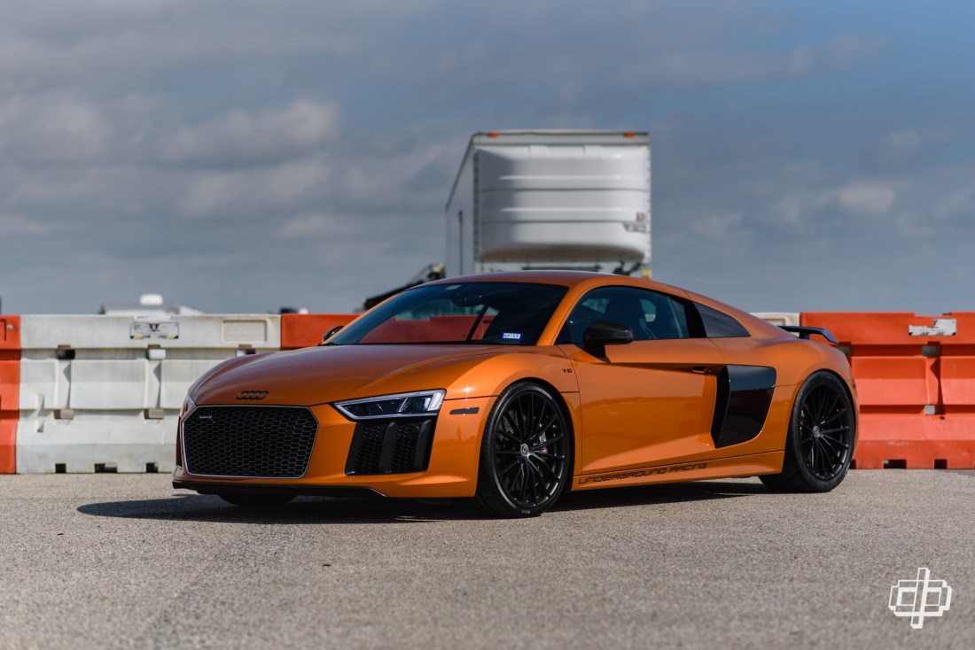 Audi R8 on black HRE Wheels at TX2K17