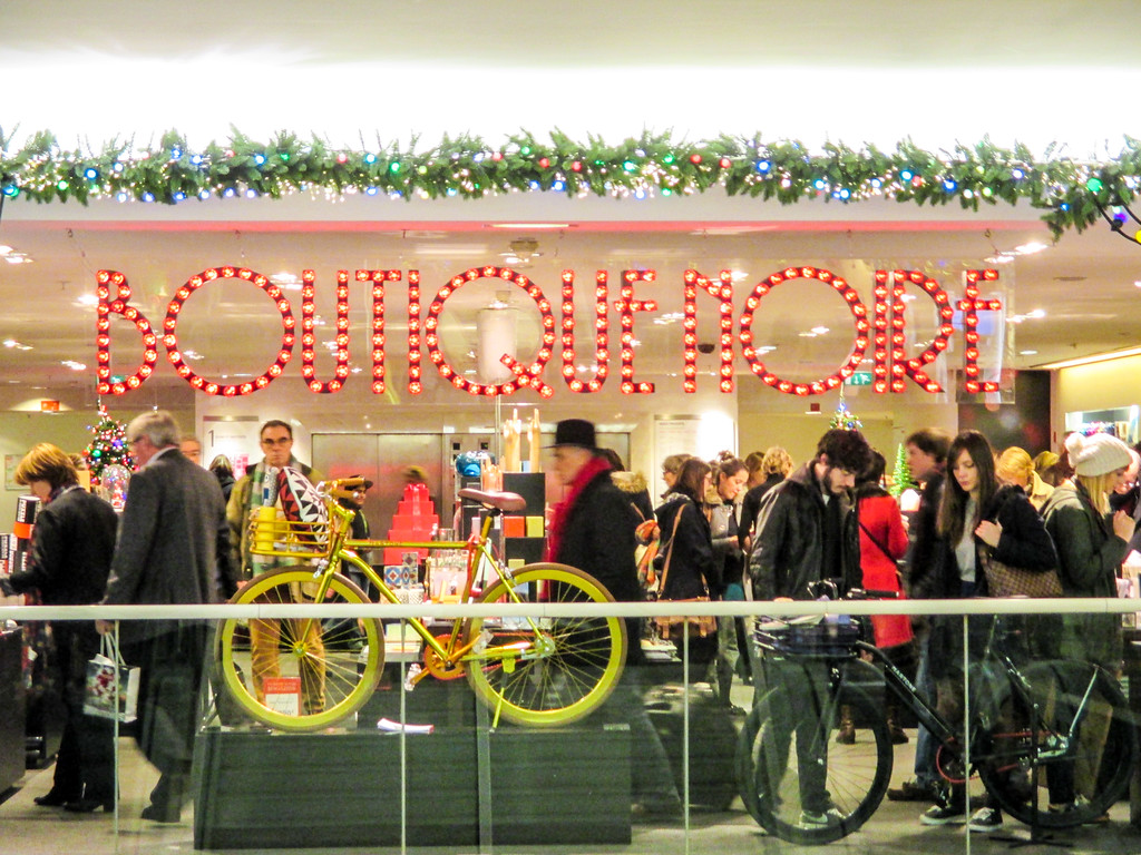 Paris in November means the department stores are already decorated for Christmas.