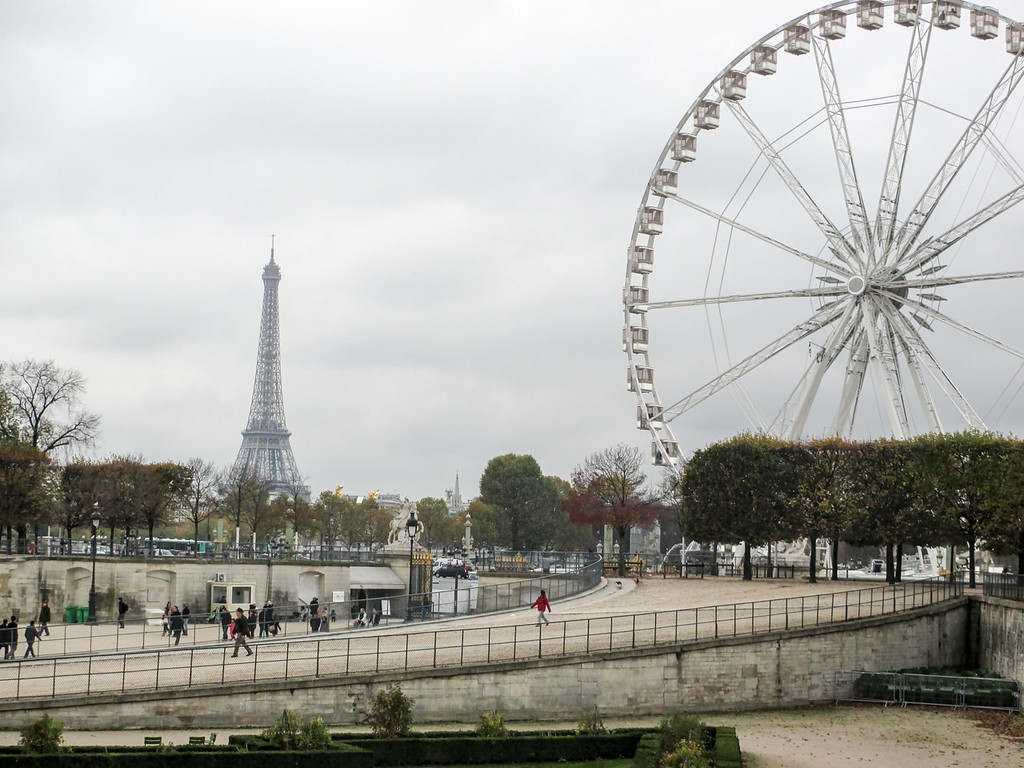 Cloudy skies are common in Paris in November, but still, the city is beautiful.