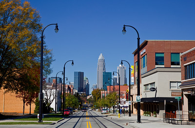 Charlotte Skyline from Elizabeth Ave