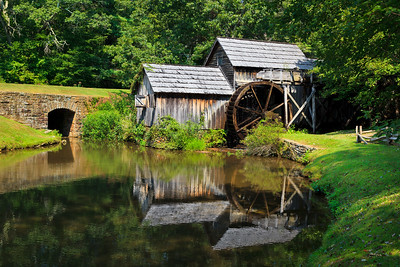Mabry Mill with Pretty Pond Reflections