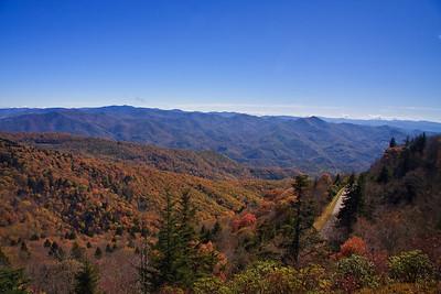 Blue Ridge Mountains in the Autumn Season
