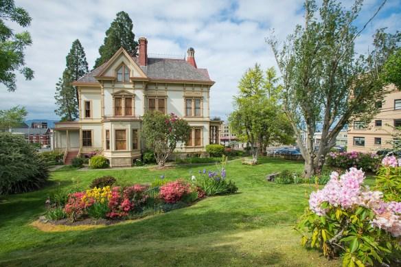 Flavel House Rear Gardens in Spring
