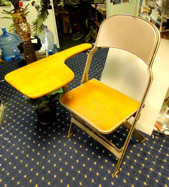 folding chair desk queen of love vintage fredsuniquefurniture student school mid century retro