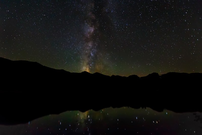 Milky Way at Sprague Lake. Photo by Tim Stanley