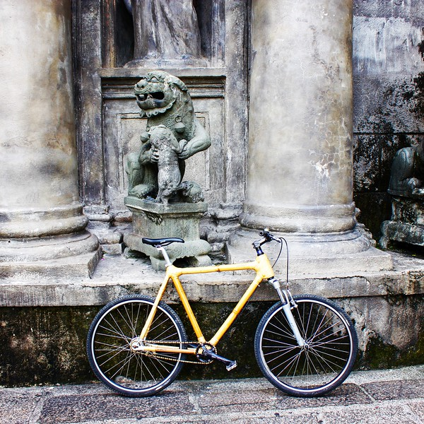 Bambike in front of San Agustin Church
