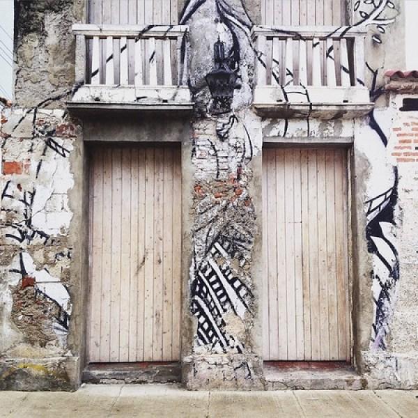 Colombia street doors