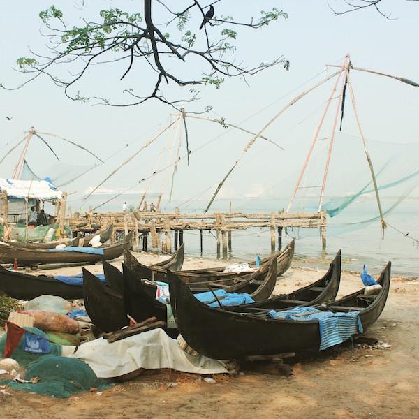 India fishing boats