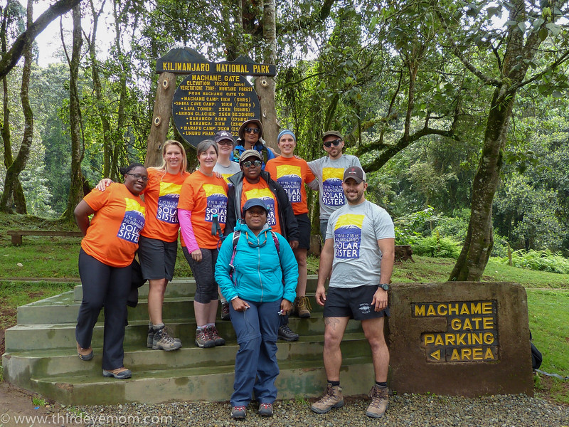 the Solar Sister Summit Team at the bottom of Kilimanjaro in June 2015