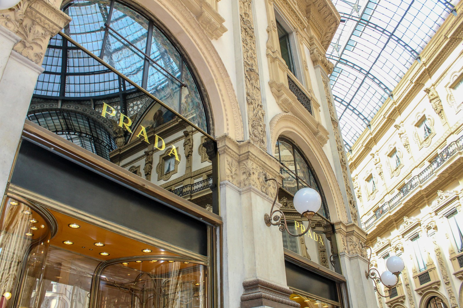 why visit milan? to buy prada, of course!